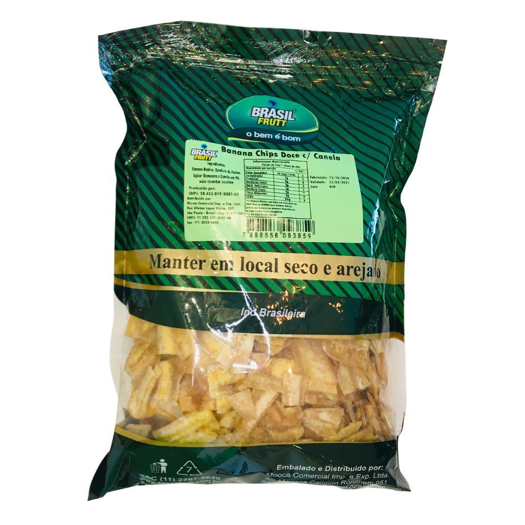 Banana chips doce com canela Brasil Frutt 500g