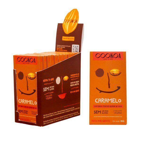 Display c/ 12 barras de Chocolate Caramelo de 80g - Cookoa