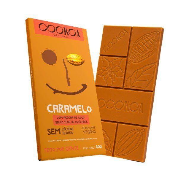 Barra de Chocolate Caramelo - Cookoa 80g