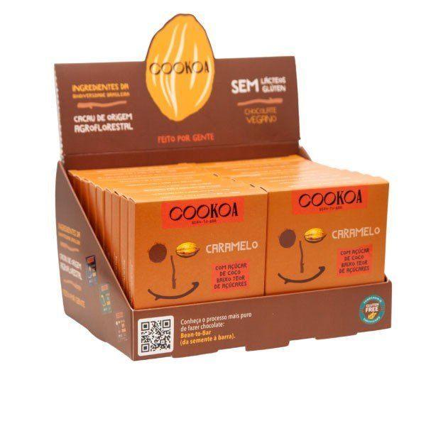 Display c/ 18 barras de Chocolate Caramelo de 30g - Cookoa