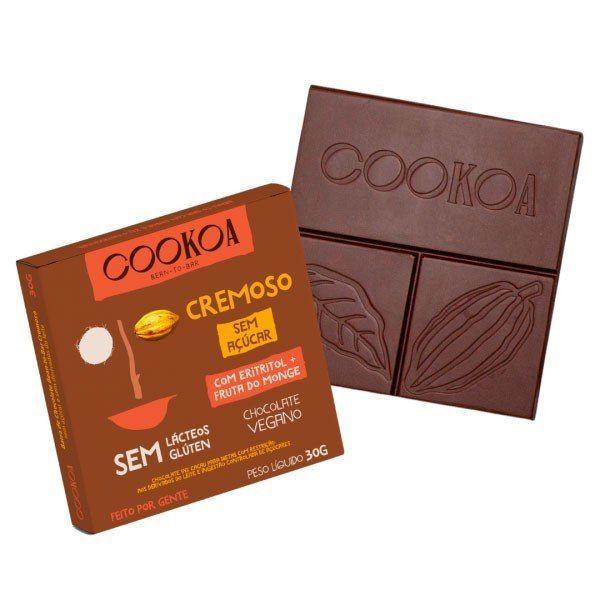 Barra de Chocolate Cremoso S/ Açúcar - Cookoa 30g