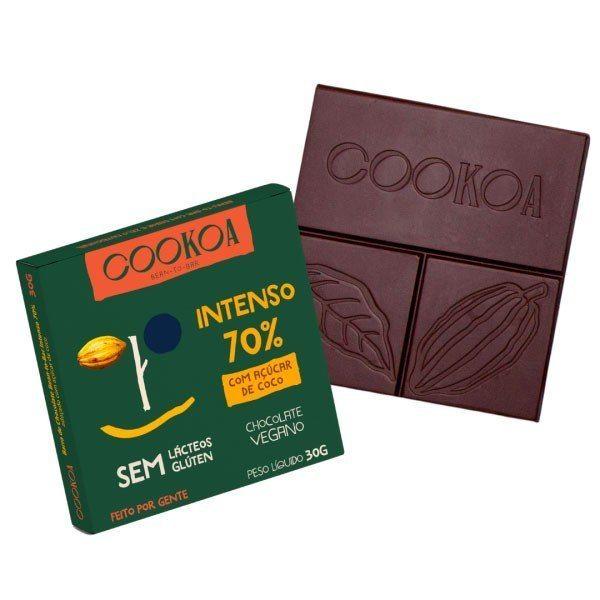 Barra de Chocolate Intenso 70% - Cookoa 30g