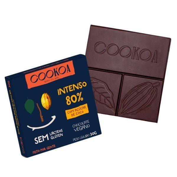 Barra de Chocolate Intenso 80% - Cookoa 30g