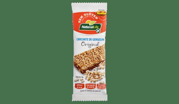 Barrinha de cereal crocante gergelim original Natural Life 10g