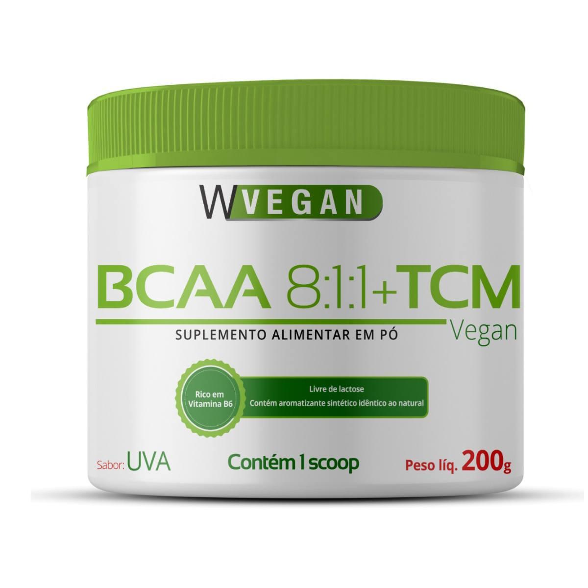 BCAA + TCM 200g Sabor Uva WVegan