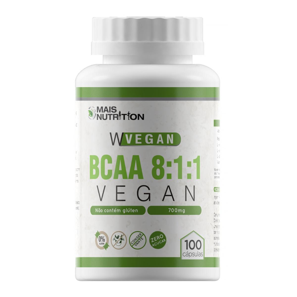 BCAA Vegan 8:1:1 800mg 100 Cápsulas WVegan