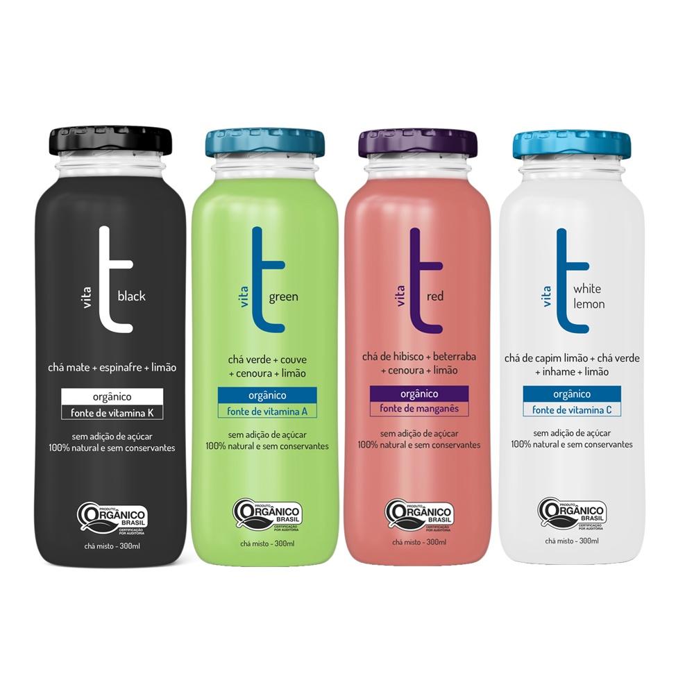 Bebida 100% Orgânica Vita T - Fonte Natural de Vitaminas  - Kit 12 UNIDADES