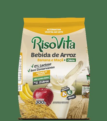 Bebida de Arroz em Pó Banana e Maçã RisoVita 300g