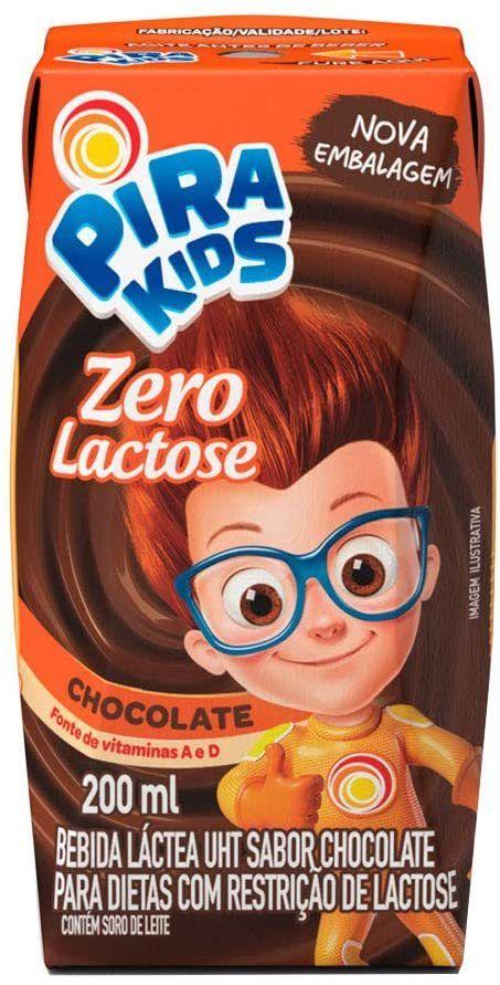 Bebida Láctea Zero Lactose Chocolate Pirakids Piracanjuba 200ml