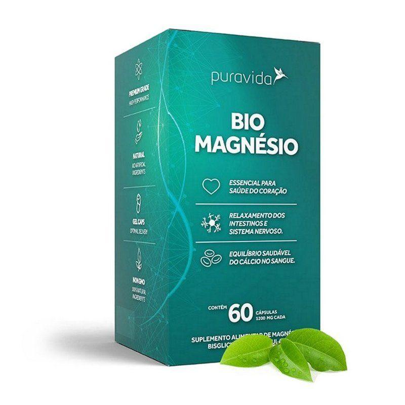Bio Magnésio Quelado Biodisponível 60 caps -  Pura Vida