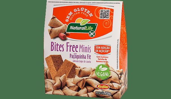 Biscoito bites free paçoquinha fit Natural Life 70g