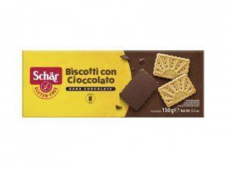 Biscoito coberto com chocolate amargo Cioccolato Dr. Schar 150g