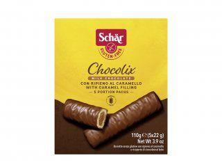 Biscoito com caramelo e chocolate chocolix Dr. Schar 110g