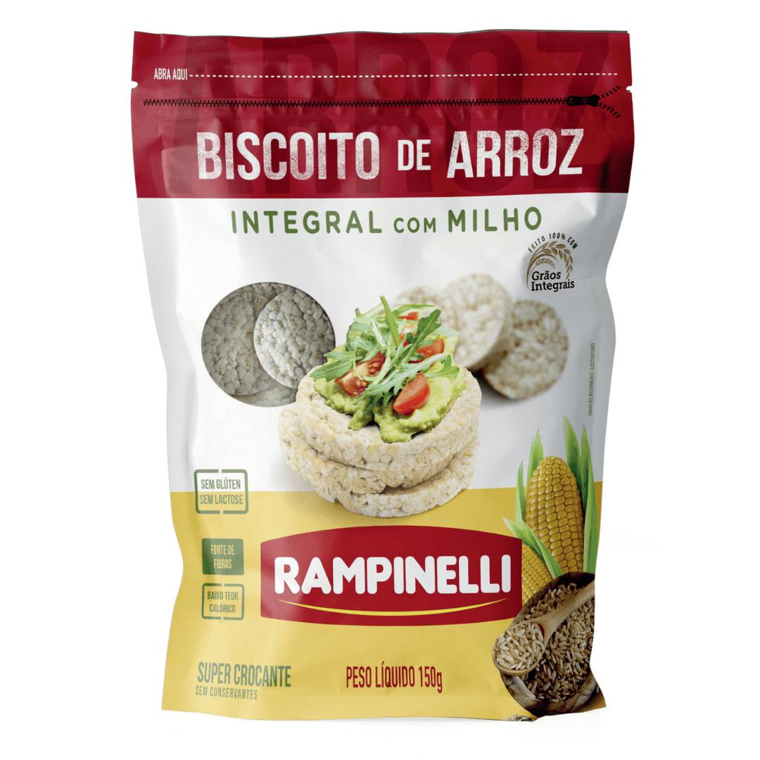 Biscoito de Arroz Integral com Milho  Rampinelli - 150g