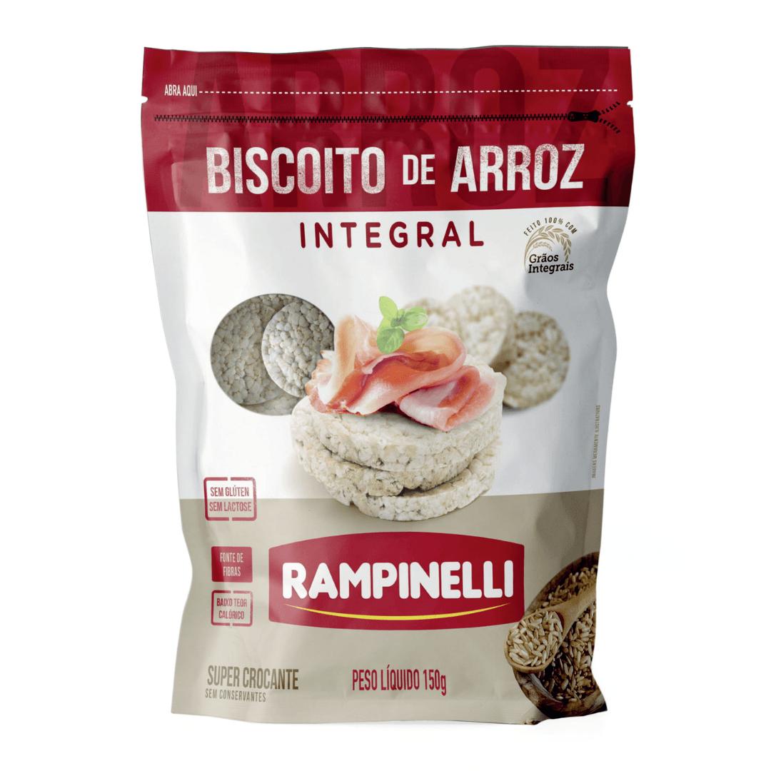 Biscoito de Arroz Integral Rampinelli - 150g