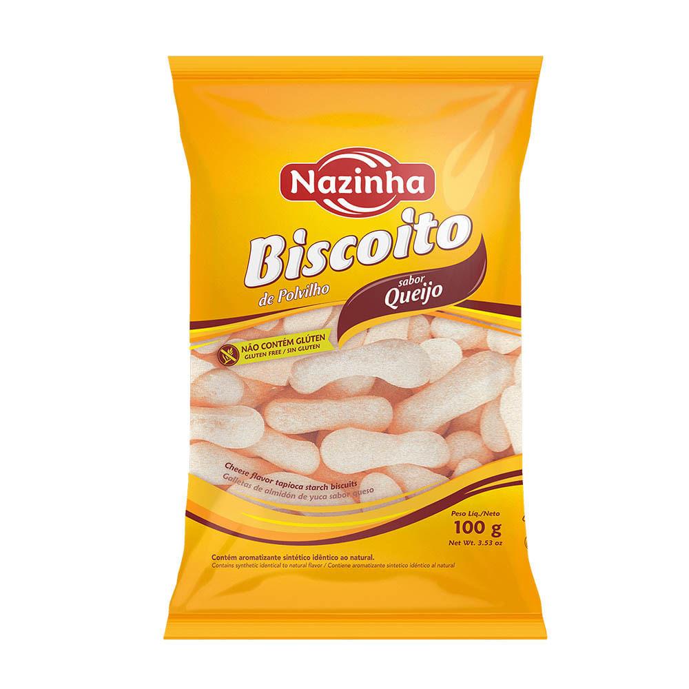 Biscoito de polvilho sabor queijo Nazinha 100g