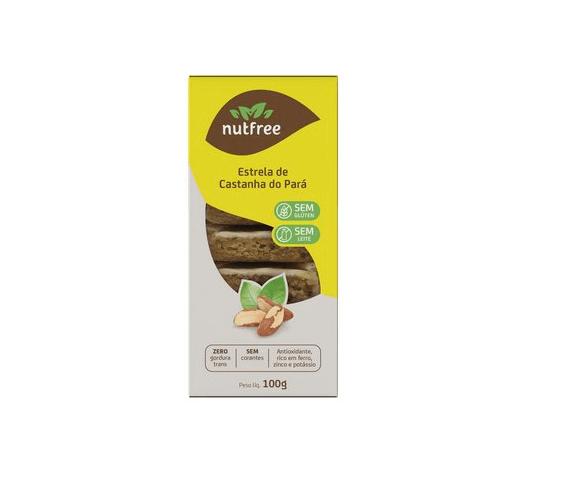 Biscoito estrela de castanha do pará NutFree 100g