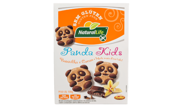 Biscoito panda kids baunilha e cacau Natural Life 100g