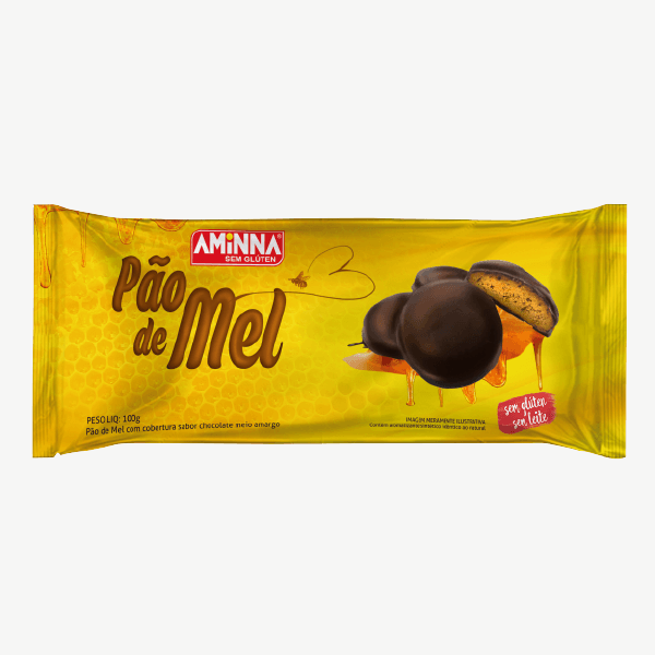 Biscoito pão de mel Aminna 100g