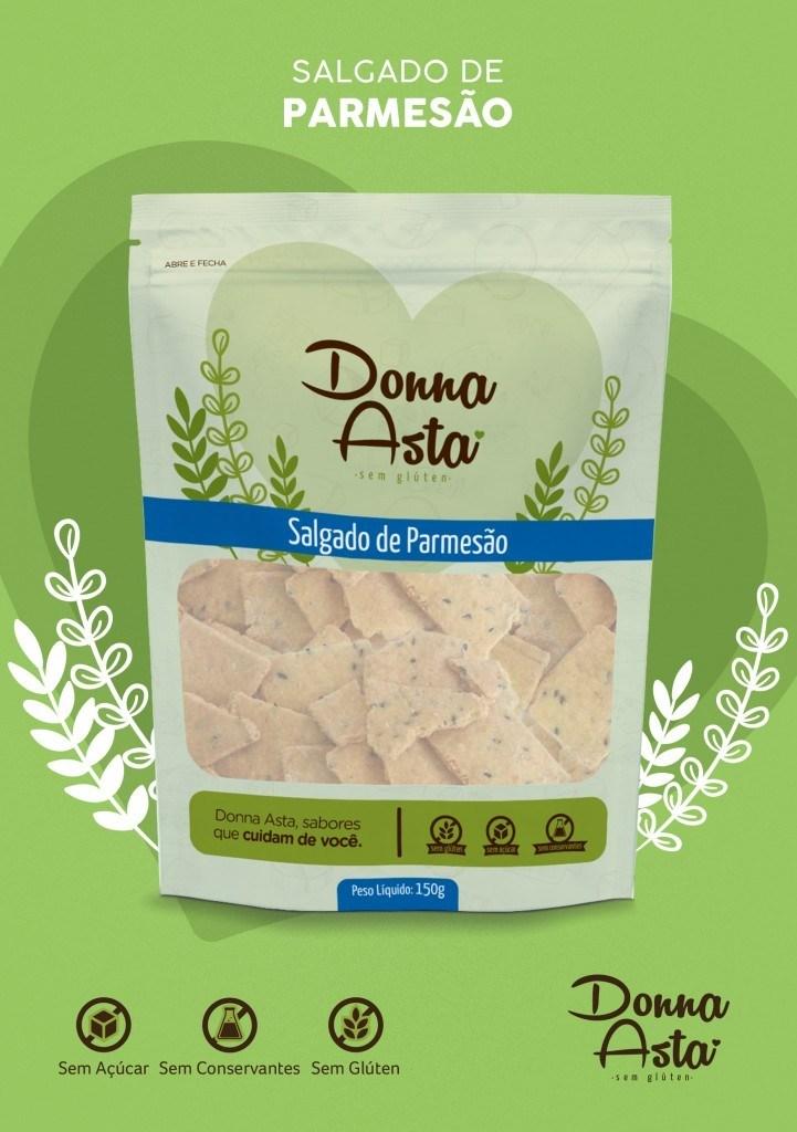 Biscoito salgado de parmesão Donna Asta 150g