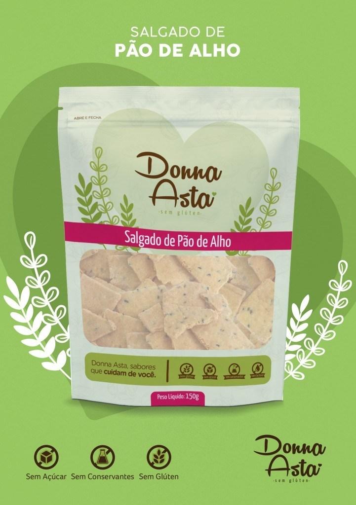 Biscoito salgado pão de alho Donna Asta 150g