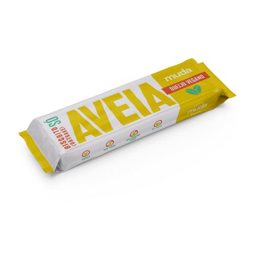 Biscoito SÓ de aveia- sabor Queijo Vegano