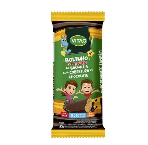 Bolinho de baunilha com cobertura de chocolate Vitao 35g