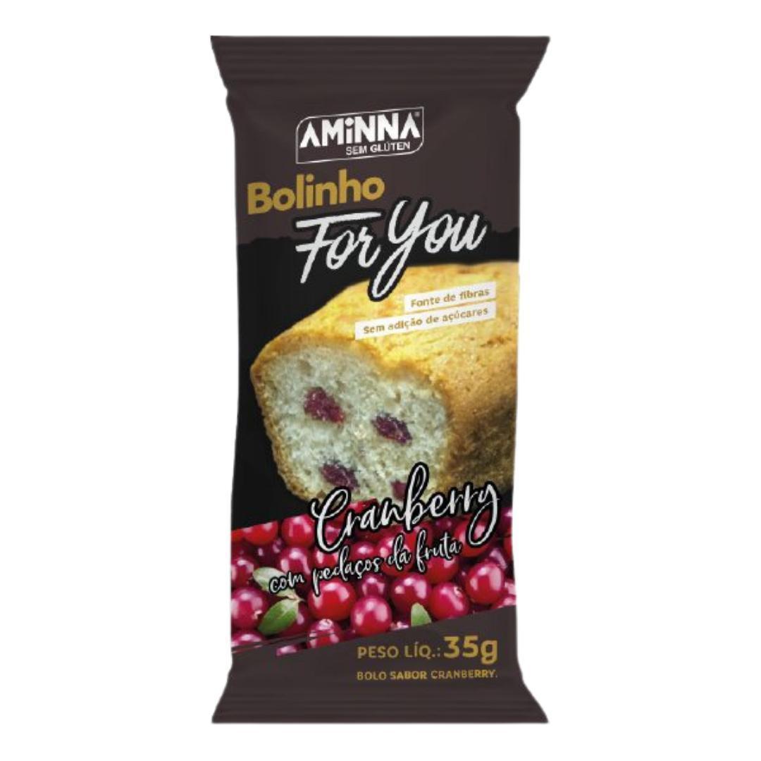 Bolinho For You de cranberry Aminna 35g