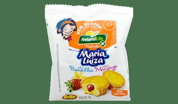 Bolinho Maria Luiza baunilha com morango Natural Life 35g