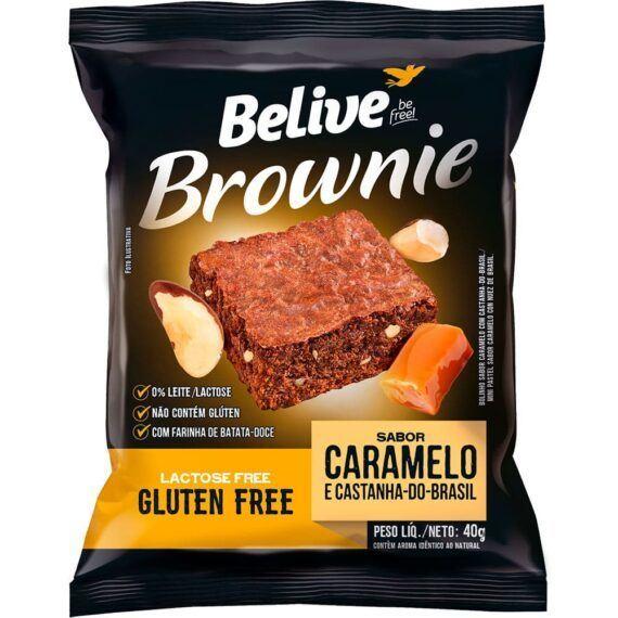 Brownie Caramelo e Castanha do Brasil Belive 40g