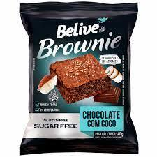 Brownie chocolate com coco sem açúcar Belive 40g