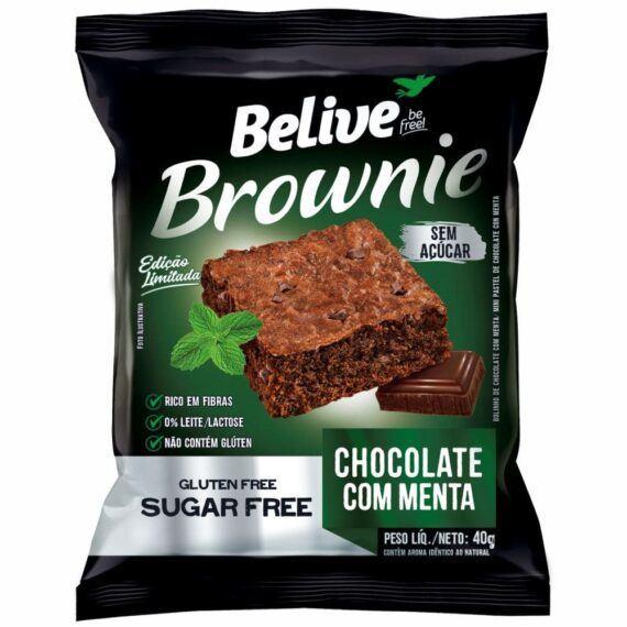 Brownie Chocolate com menta sem açúcar Belive 40g