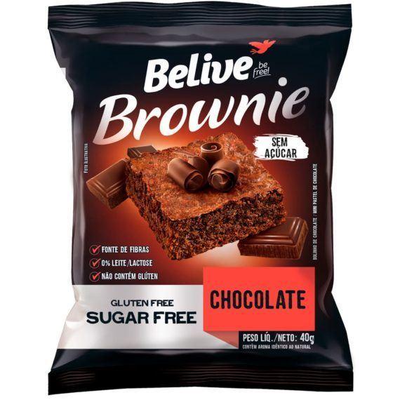 Brownie Chocolate sem açúcar Belive 40g