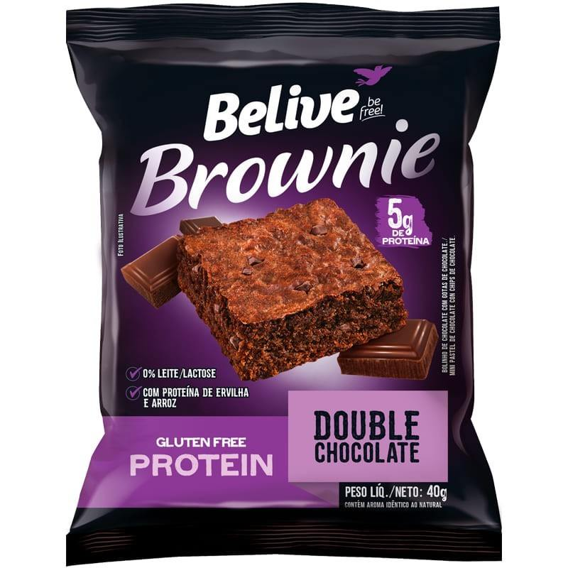 Brownie Double Chocolate Belive 40g