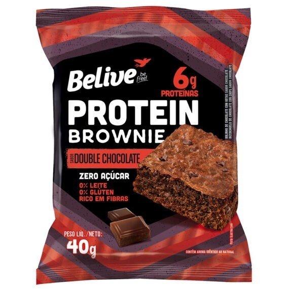 Brownie Double Chocolate sem açúcar Belive 40g