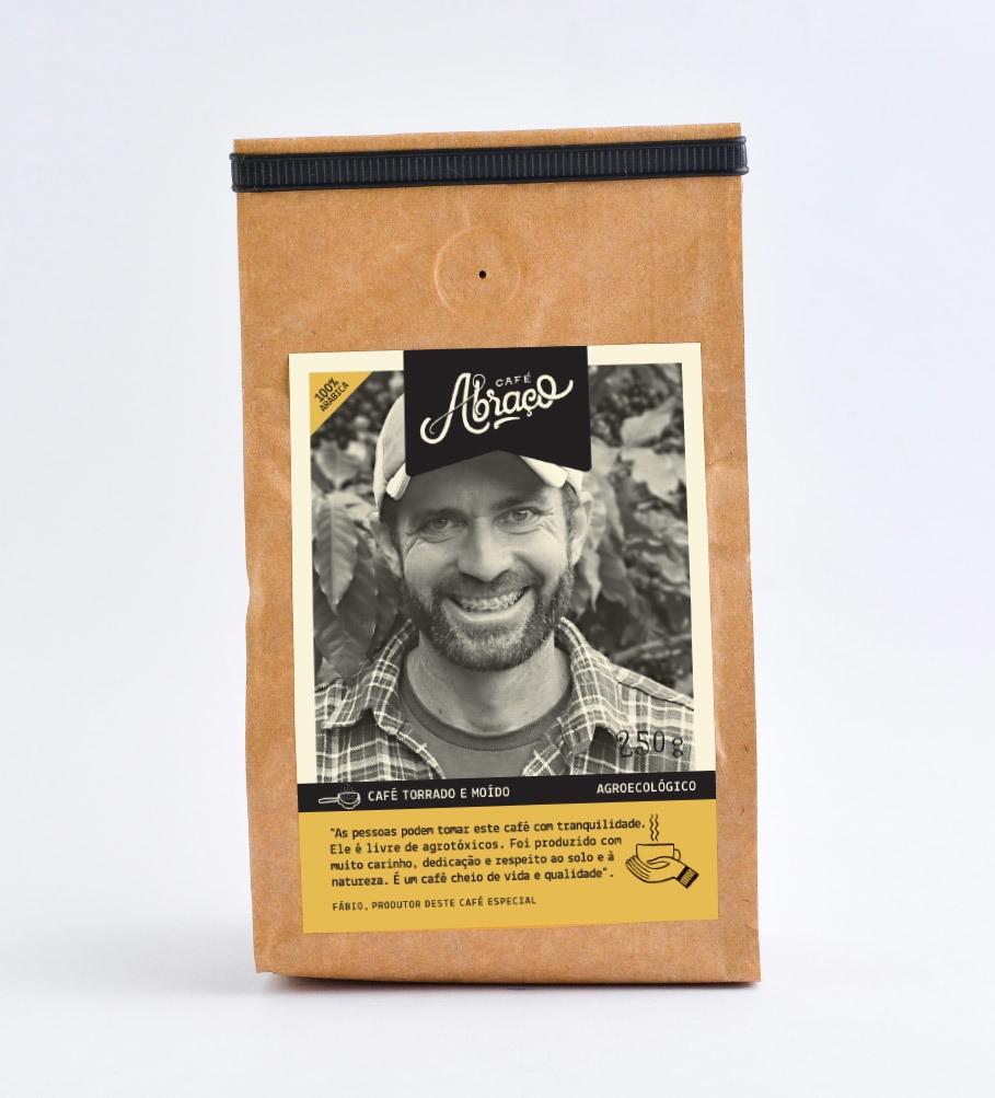 Café agroecológico do Fábio, café agroecológico levemente frutado com notas de chocolate - Torrado e moído 250g