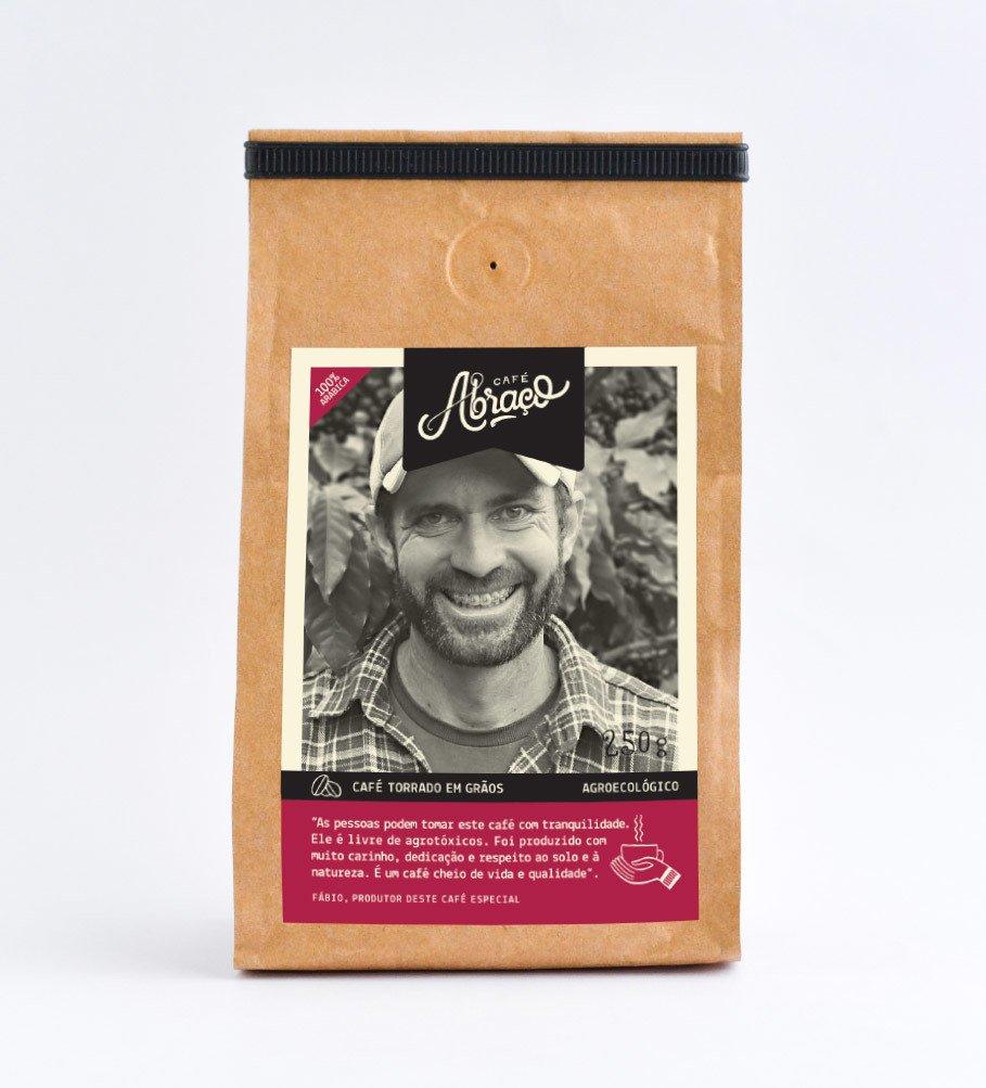 Café agroecológico do Fábio, café agroecológico levemente frutado com notas de chocolate - Torrado em grãos 250g