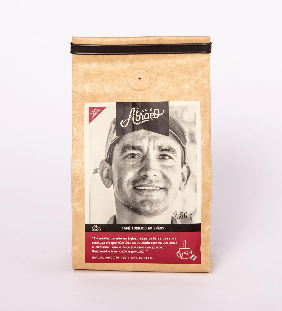 Café do Márcio, notas sensoriais de chocolate ao leite, açúcar mascavo e amendoim torrado - Torrado em grãos 250g