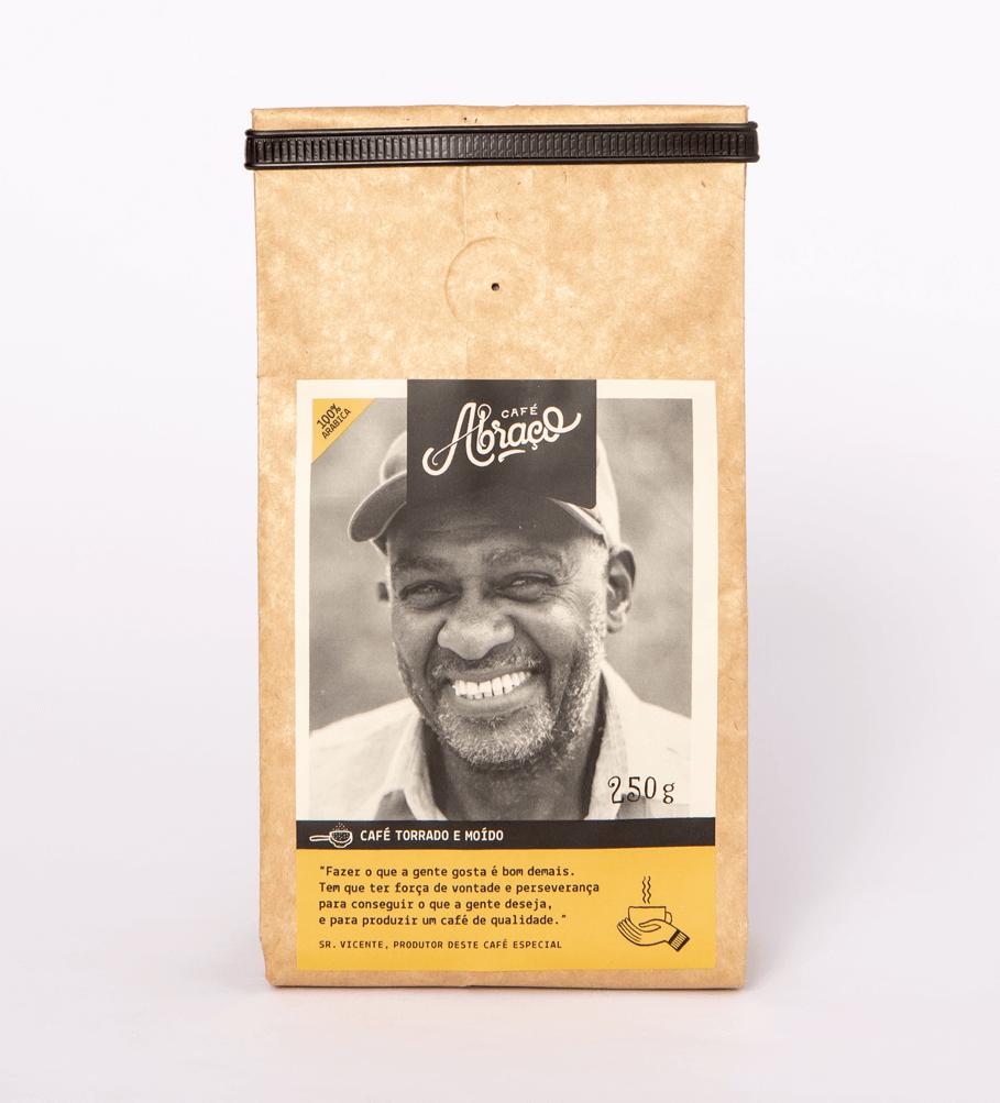 Café do Sr. Vicente, notas sensoriais de chocolate e mel - Torrado e moído 250g