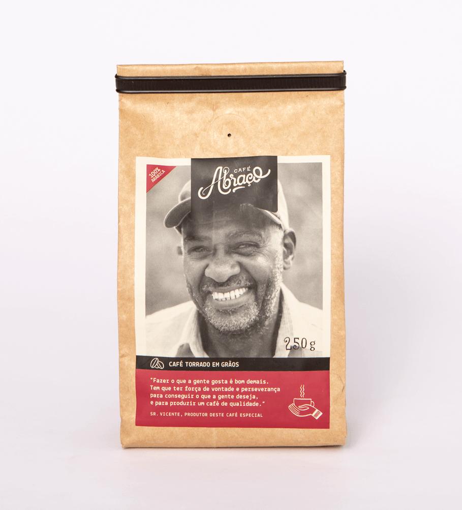 Café do Sr. Vicente, notas sensoriais de chocolate e mel - Torrado em grãos 250g