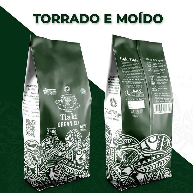 Café Orgânico Torrado e Moído - Tiaki 250g