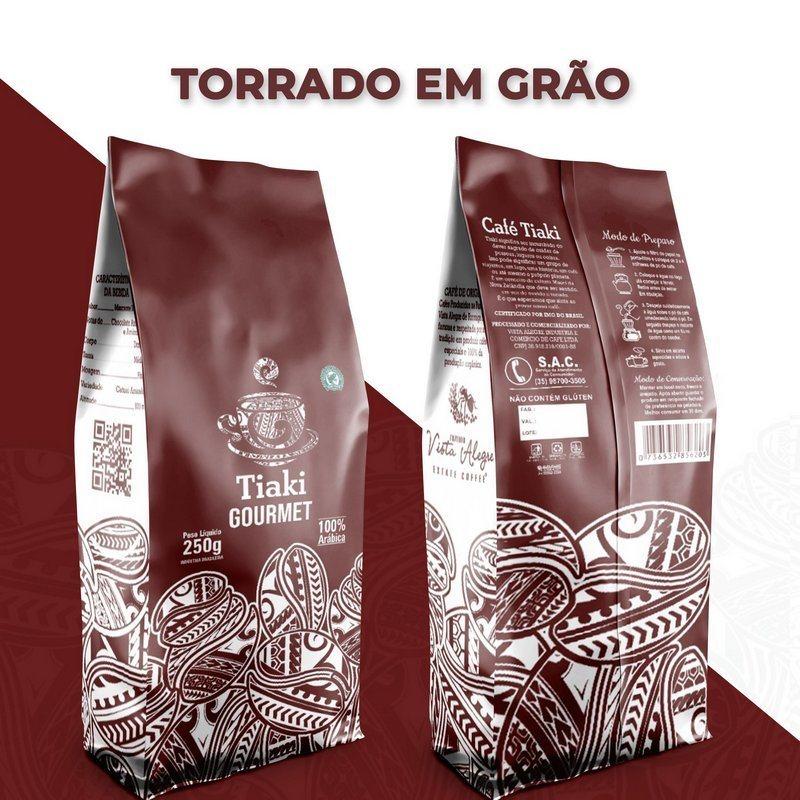 Café Gourmet Torrado em Grão - Tiaki 250g