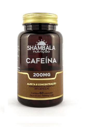 Cafeína 200mg Shambala - 60 cápsulas