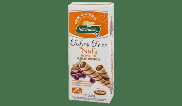 Canudinho tubes free pasta de amendoim Natural Life 50g