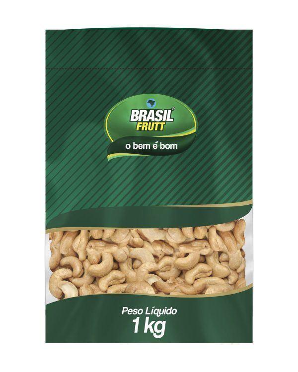 Castanha de caju torrada sem sal Brasil Frutt 1Kg