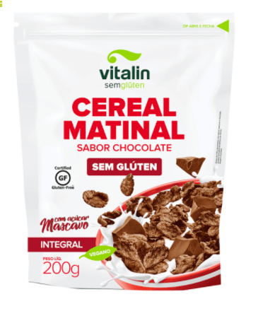 Cereal matinal sabor chocolate integral Vitalin 200g
