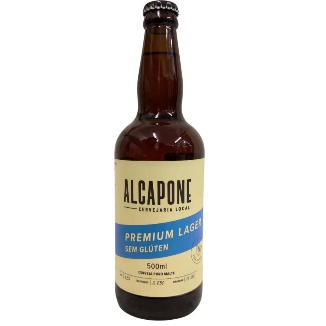 Cerveja sem glúten Alcapone lager premium 500ml