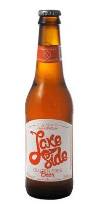 Cerveja sem glúten Lake Side lager 355ml