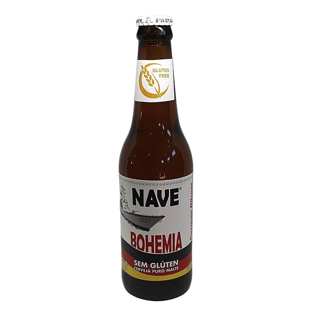 Cerveja Sem Glúten Pilsen Nave Bohemia German 355ml