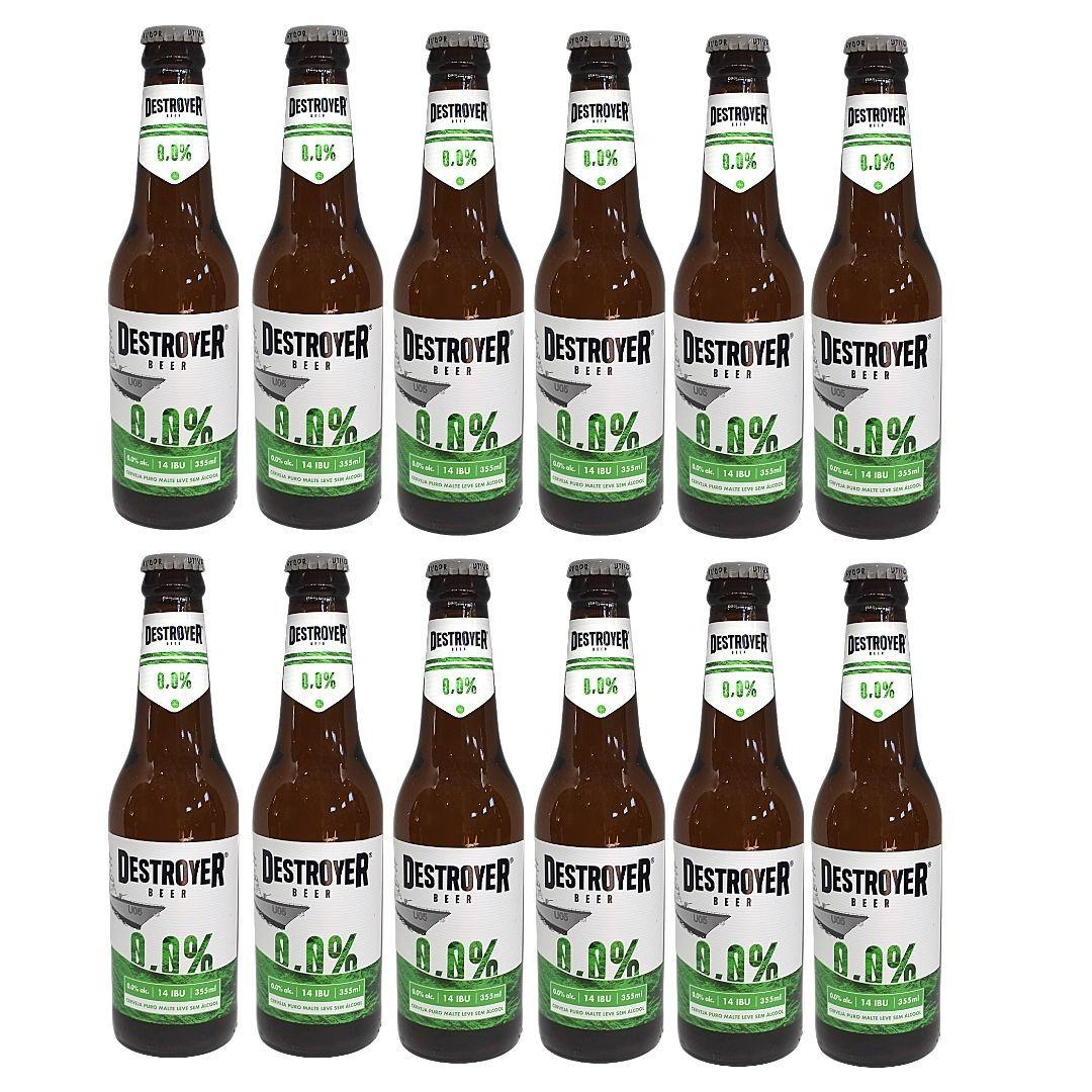 Cerveja Zero Álcool Puro Malte Destroyer 355ml Cx com 12